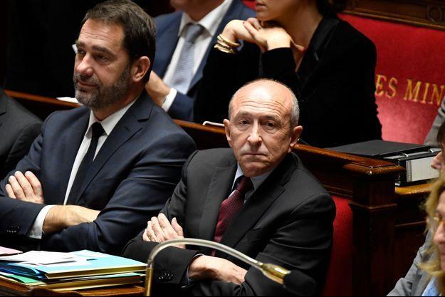 Christophe Castaner et Gérard Collomb ici à l'Assemblée nationale en décembre 2017.