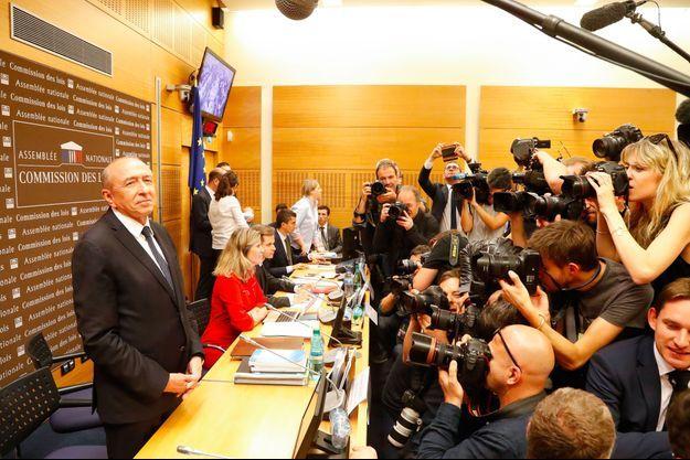 Gérard Collomb avant son audition devant la commission d'enquête, à l'Assemblée nationale lundi matin.