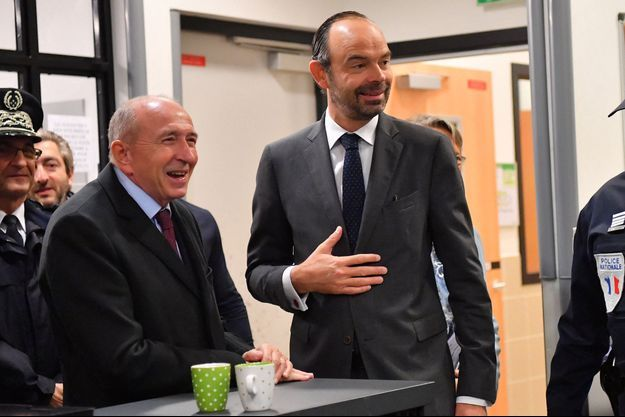 Gérard Collomb et Edouard Philippe, ici Gare du Nord à Paris, en novembre 2017.