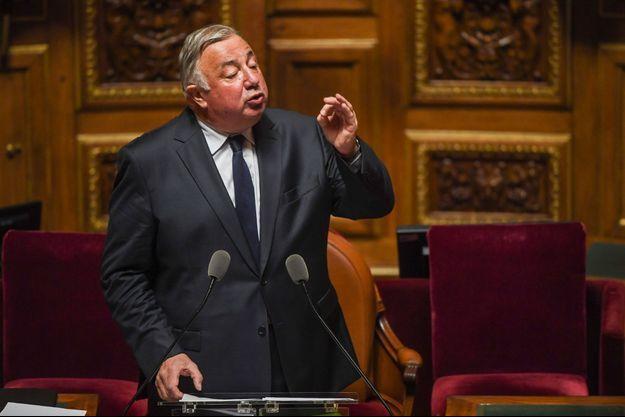 Gérard Larcher au Sénat, lundi.