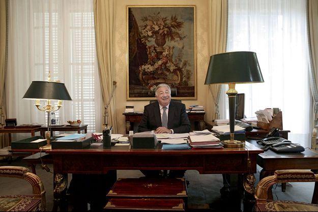 Gérard Larcher dans son bureau du Sénat.