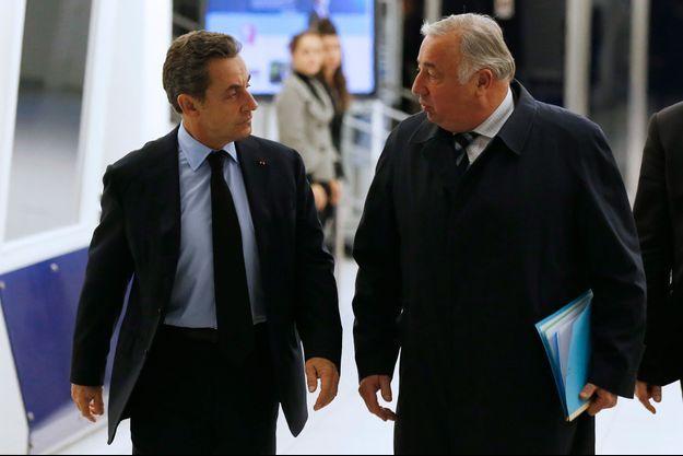 Nicolas Sarkozy et Gérard Larcher ici à Paris en décembre 2014.