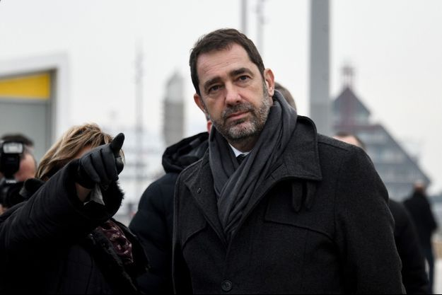 Christophe Castaner à Calais.