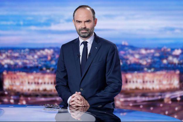 Edouard Philippe au journal télévisé de TF1.