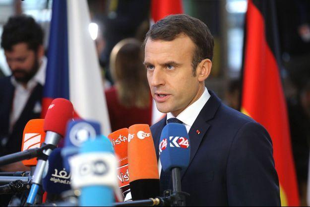 Emmanuel Macron à Bruxelles le 13 décembre 2018.