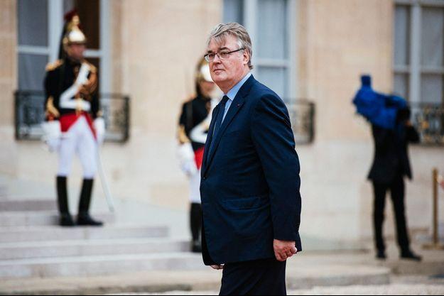 Jean-Paul Delevoye, Haut commissaire à la réforme des retraites, ici à l'Elysée lors de l'investiture d'Emmanuel Macron en mai 2017.