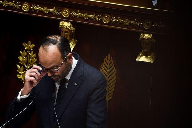 Edouard Philippe à l'Assemblée nationale, mercredi.