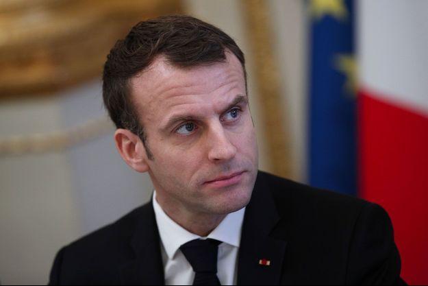 Emmanuel Macron à l'Elysée lundi.