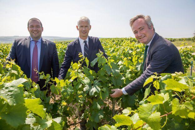 Guillaume Gomez, Franck Riester et Jean-Baptiste Lemoyne.