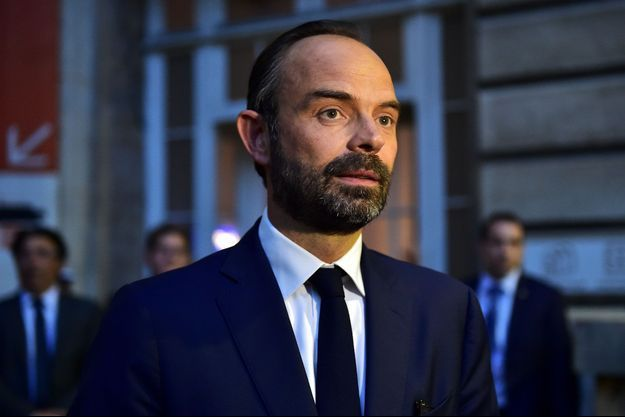 Le Premier ministre Edouard Philippe lors d'une visite à la préfecture de police de Paris, le 15 mai.