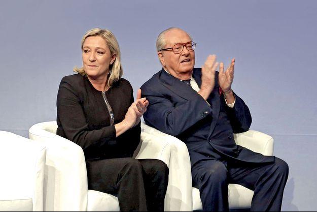 Marine et Jean-Marie Le Pen en 2014.