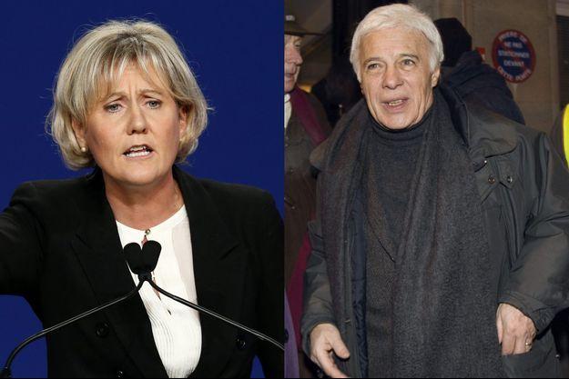 Nadine Morano et Guy Bedos (montage).