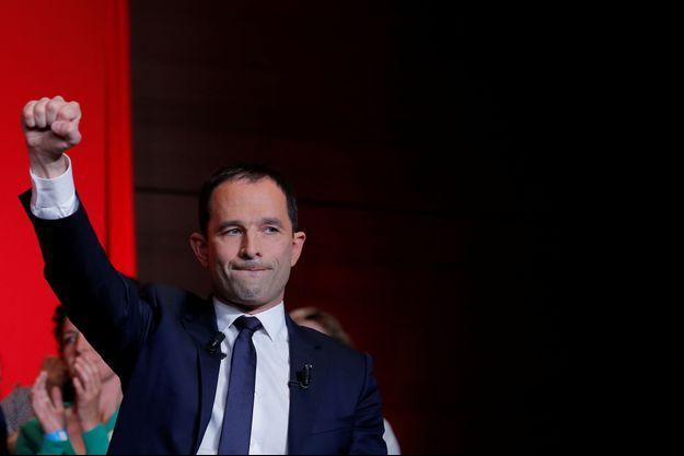 Benoît Hamon, ici au soir du premier tour de la présidentielle.