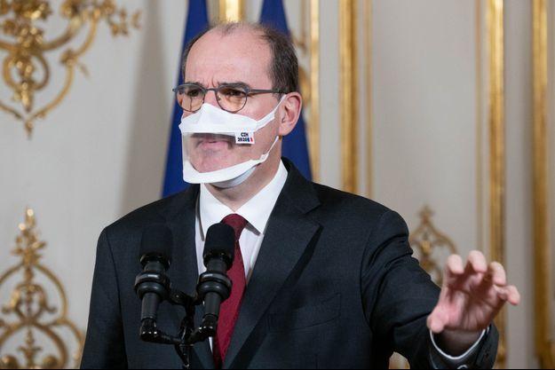 Jean Castex, lundi, à Matignon.