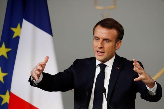 Emmanuel Macron à l'Elysée le 11 février 2020.