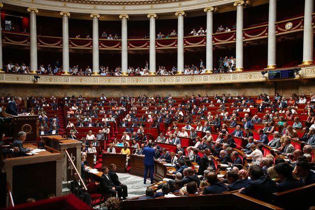 Dans l'hémicycle du Palais-Bourbon, le 23 juillet dernier. (photo d'illustration)