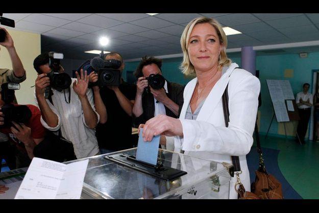 Marine Le Pen, à Hénin-Beaumont.