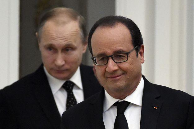 Vladimir Poutine et François Hollande au Kremlin, en novembre 2015.