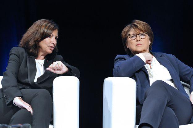 Anne Hidalgo et Martine Aubry au Congres des villes francophones en novembre 2018.