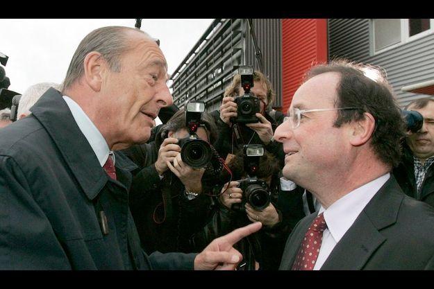 Jacques Chirac et François Hollande, en 2007.