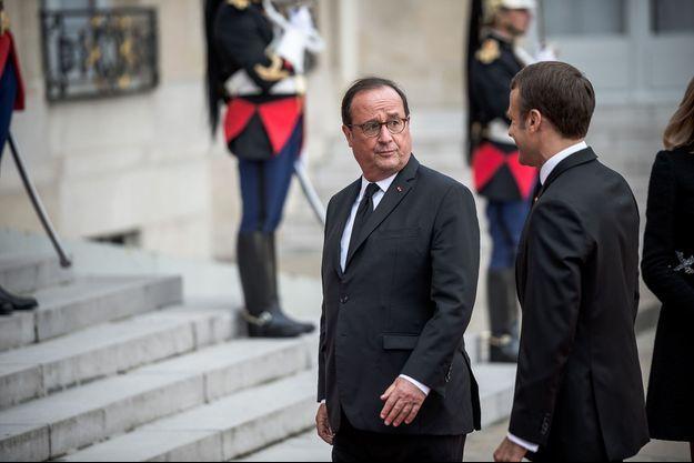 François Hollande et Emmanuel Macron à l'Elysée le 30 septembre.