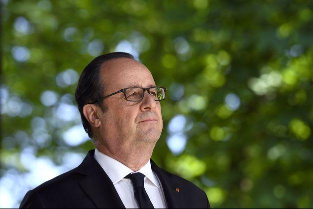 François Hollande à Paris lors d'une cérémonie anniversaire de l'abolition de l'esclavage, le 10 mai.