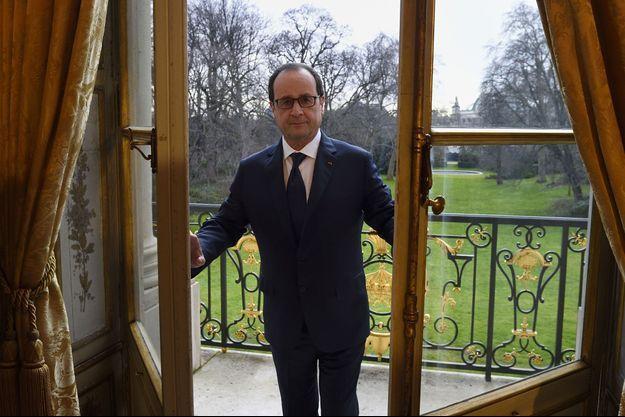 François Hollande à l'Elysée le 24 février.
