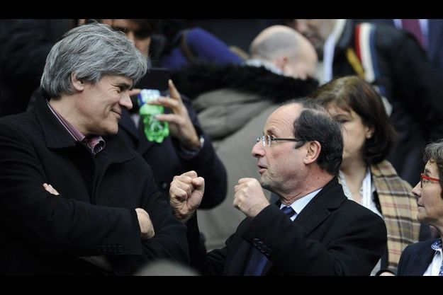 On connaît son humour, mais au Stade de France, dimanche 11 mars, il montre aussi sa combativité à Stéphane Le Foll, son directeur de campagne.