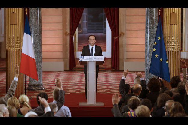 François Hollande à l'Elysée, mardi.