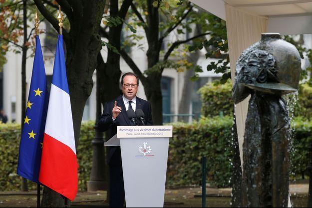 François Hollande lors de la cérémonie d'hommage aux victimes du terrorisme
