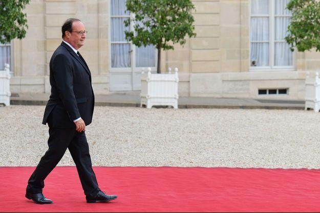 François Hollande à l'Elysée le 30 septembre.