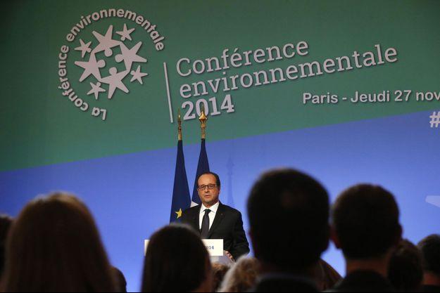 François Hollande, jeudi, à l'ouverture de la conférence environnementale.