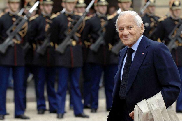 Jean D'Ormesson à l'Elysée le 16 juin 2007