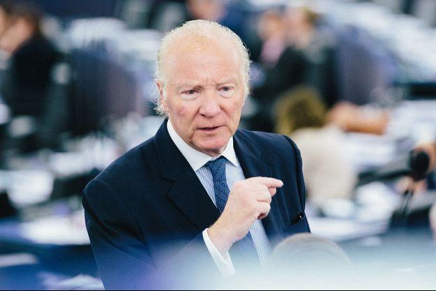 L'eurodéputé LR Brice Hortefeux, à Strasbourg en juin 2018.