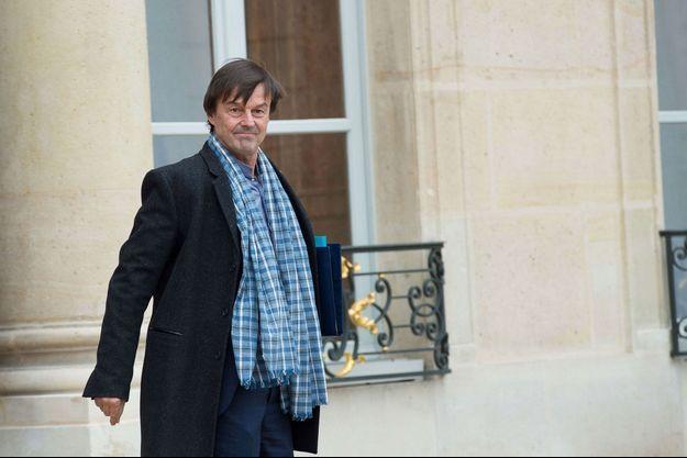 Nicolas Hulot à l'Elysée, lundi.