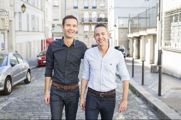 Ian Brossat, à droite, avec Brice son mari.