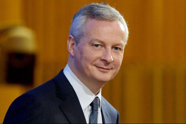 Bruno Le Maire lundi lors d'un colloque à Bercy sur l'économie verte.