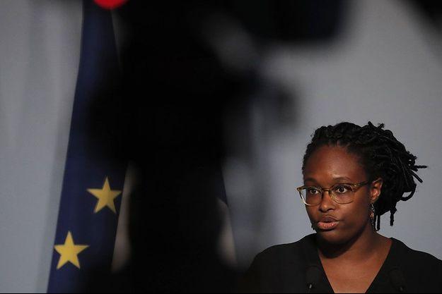 La porte-parole du gouvernement Sibeth Ndiaye mercredi, à l'issue du conseil des ministres.
