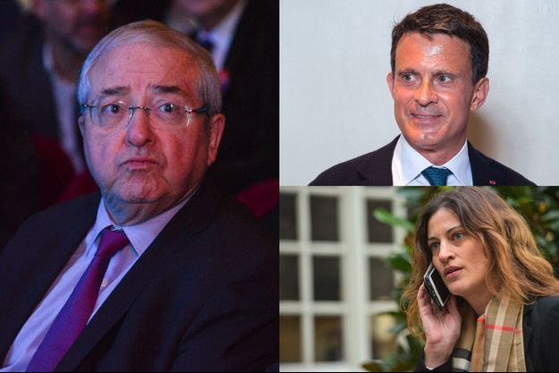 Jean-Paul Huchon, Manuel Valls, Juliette Méadel.