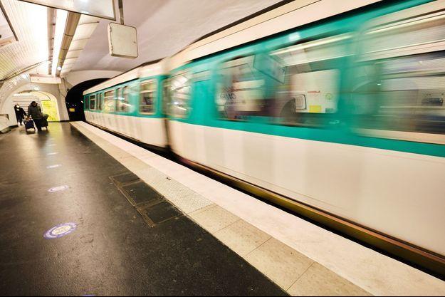 Photo d'illustration du métro parisien.