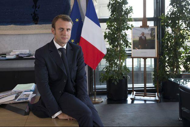 Emmanuel Macron, mardi dernier dans son bureau à Bercy.