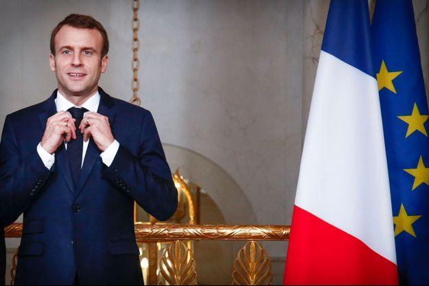 Emmanuel Macron à l'Elysée, vendredi 11 janvier.