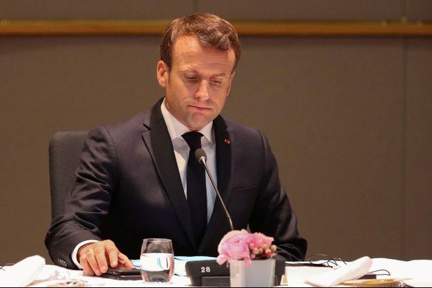 Emmanuel Macron, le 10 avril à Bruxelles.