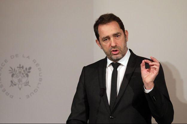 Christophe Castaner, en conférence de presse le 6 février.