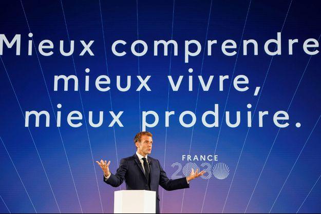 """Emmanuel Macron a dévoilé mardi son plan d'investissement """"France 2030"""""""