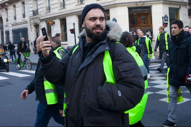 Eric Drouet ici à Paris le 22 décembre.
