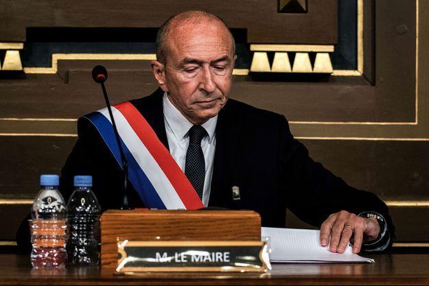 Gérard Collomb le 5 novembre dernier après son élection en tant que maire de Lyon.