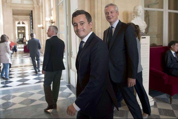 Gérald Darmanin et Bruno Le Maire à l'Assemblée nationale le 27 septembre.