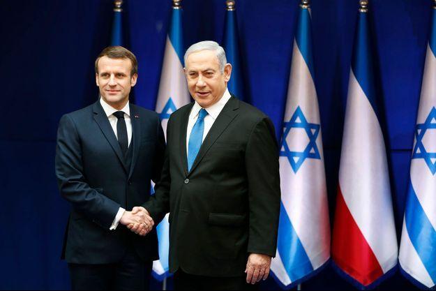 Emmanuel Macron et Benjamin Netanyahou