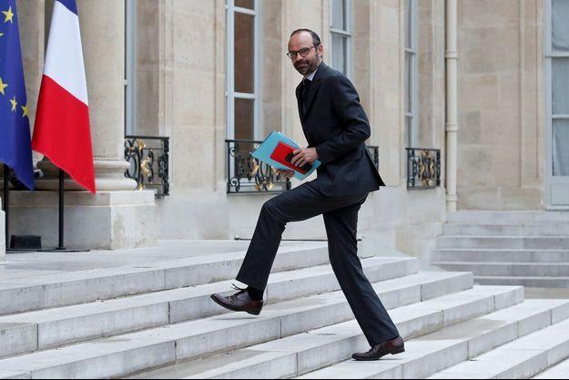 Edouard Philippe, à l'Elysée en mai 2017, quelques jours après avoir pris ses fonctions à Matignon.